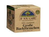 IF YOU CARE Gro�e Backf�rmchen, � 6,3 cm  - 60 St�ck