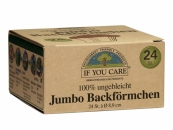 IF YOU CARE Jumbo Backf�rmchen, � 8,9 cm  - 24 St�ck