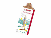 memo Buntstifte Natural Colours, 12-fach sortiert