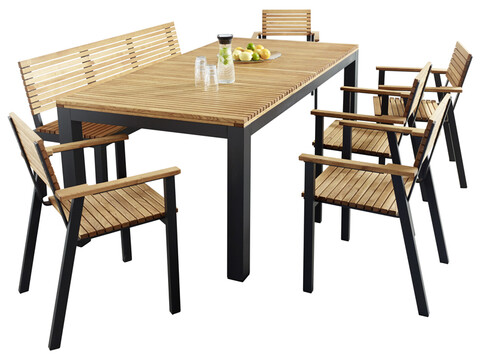 ko gartenm bel set sassa 7 teilig aus fsc zertifziertem holz prodana. Black Bedroom Furniture Sets. Home Design Ideas