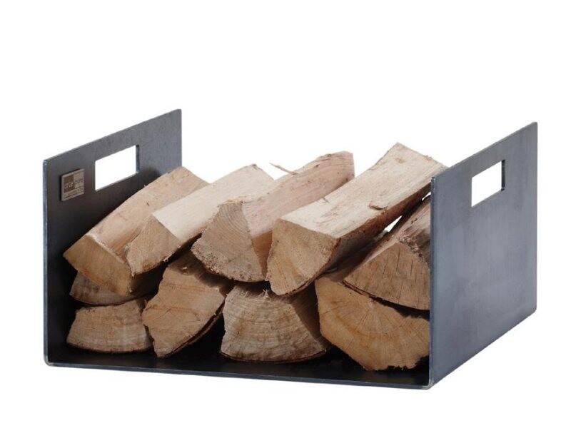 holzlege cuber aus stahl 38,5x20x37cm - prodana
