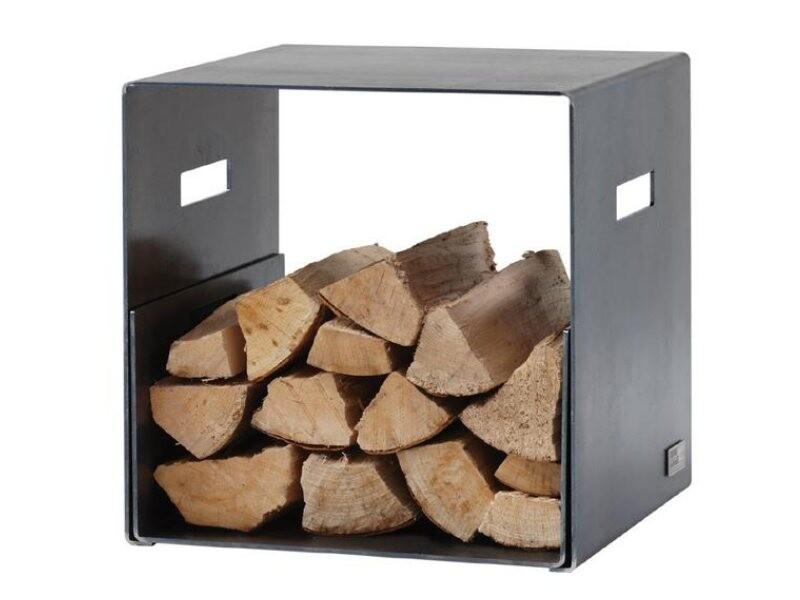 holzlege cuber aus stahl 38 5x20x37cm prodana. Black Bedroom Furniture Sets. Home Design Ideas