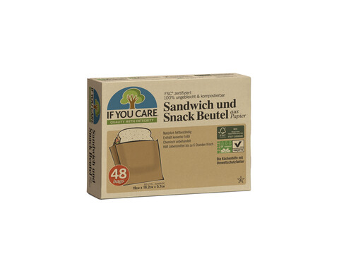 IF YOU CARE Sandwich und Snackbeutel - 48er Packung