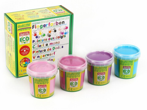ökoNORM Fingerfarben 4er Set Princess Ecofee